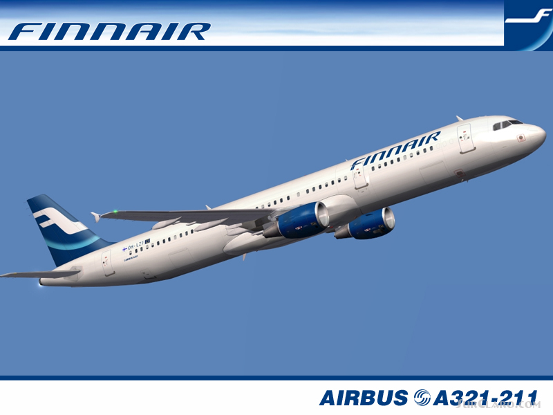 FS2004 IFDG Airbus A321-211 Finnair Registration LZF Airliners