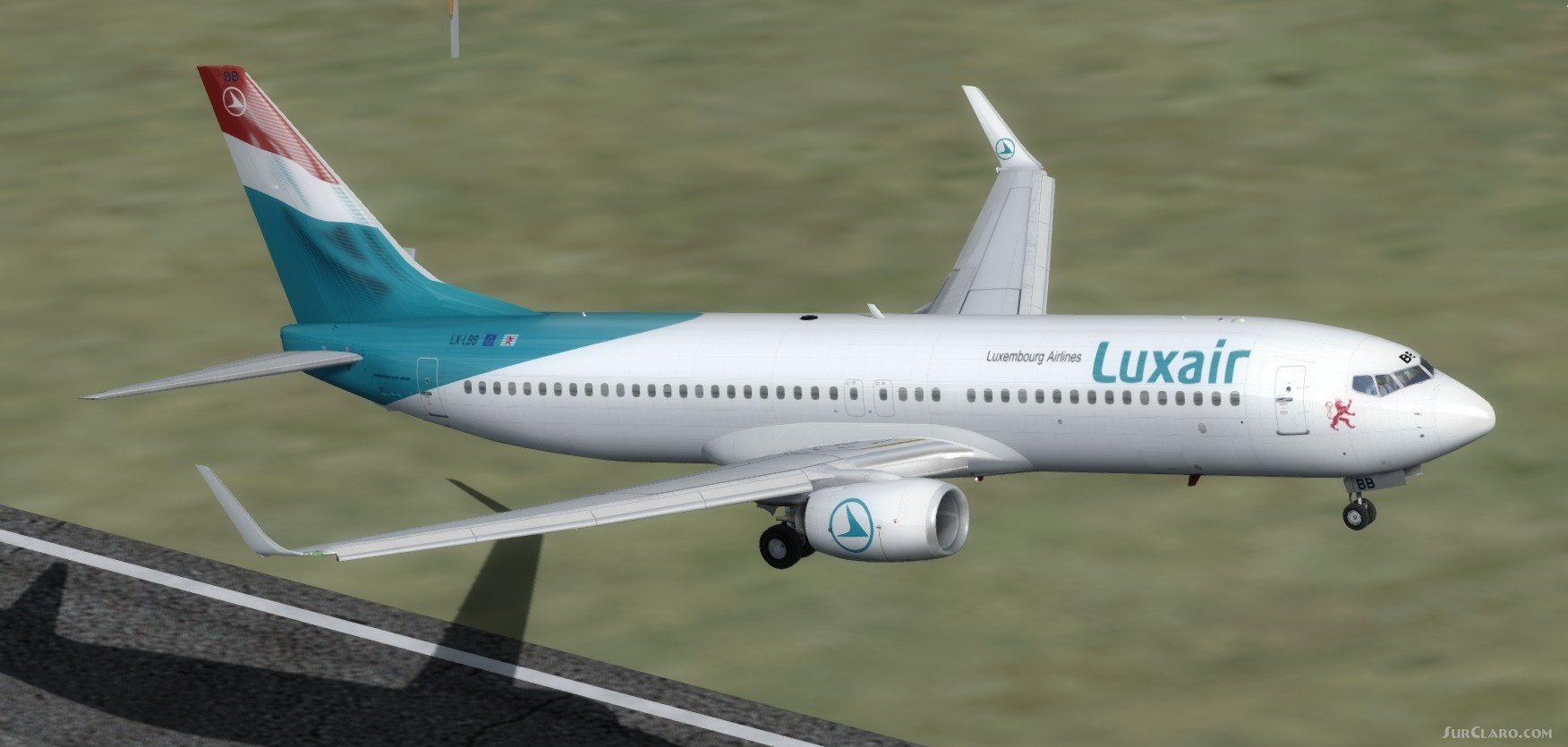 FSX P3D Boeing 737-800 Luxair Package With Enhanced VC Aircraft