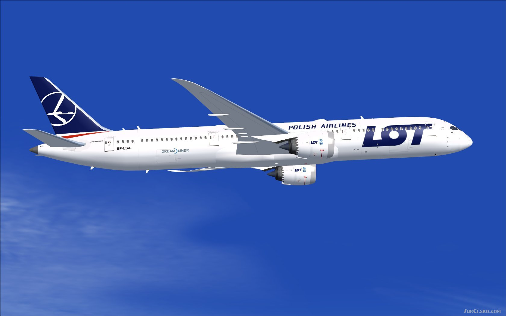 FSX LOT Polish Airlines Boeing 787-9 V5L Aircraft