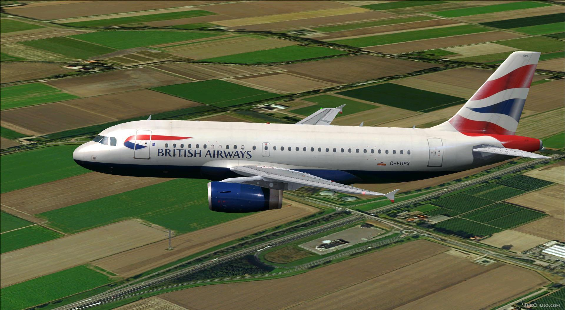 FSX P3D Airbus A319-100 British Airways Aircraft