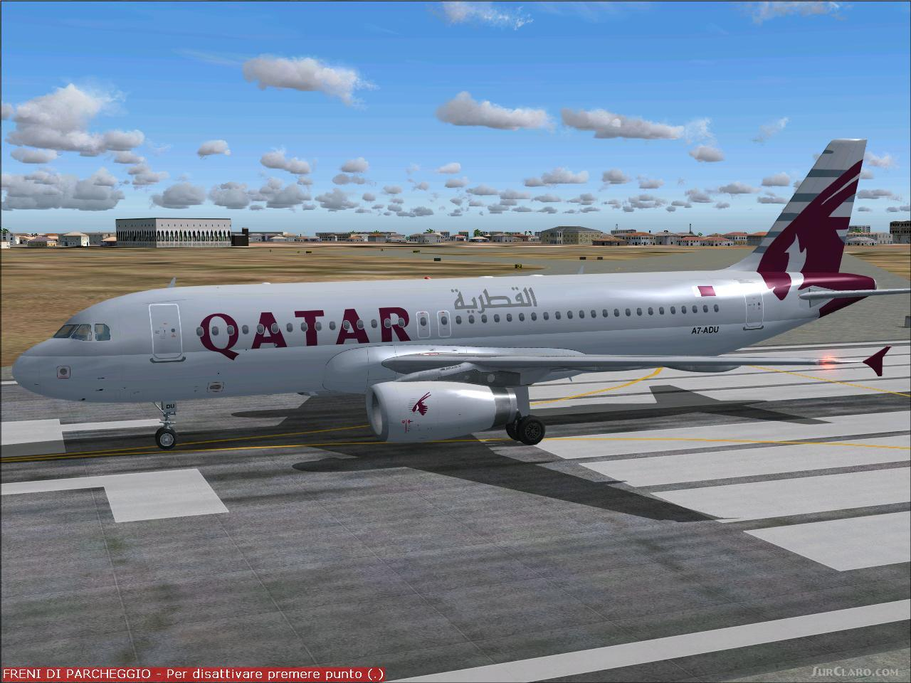 FS2004 Airbus A320-200 IAE Qatar Airways Project Textures Repaint