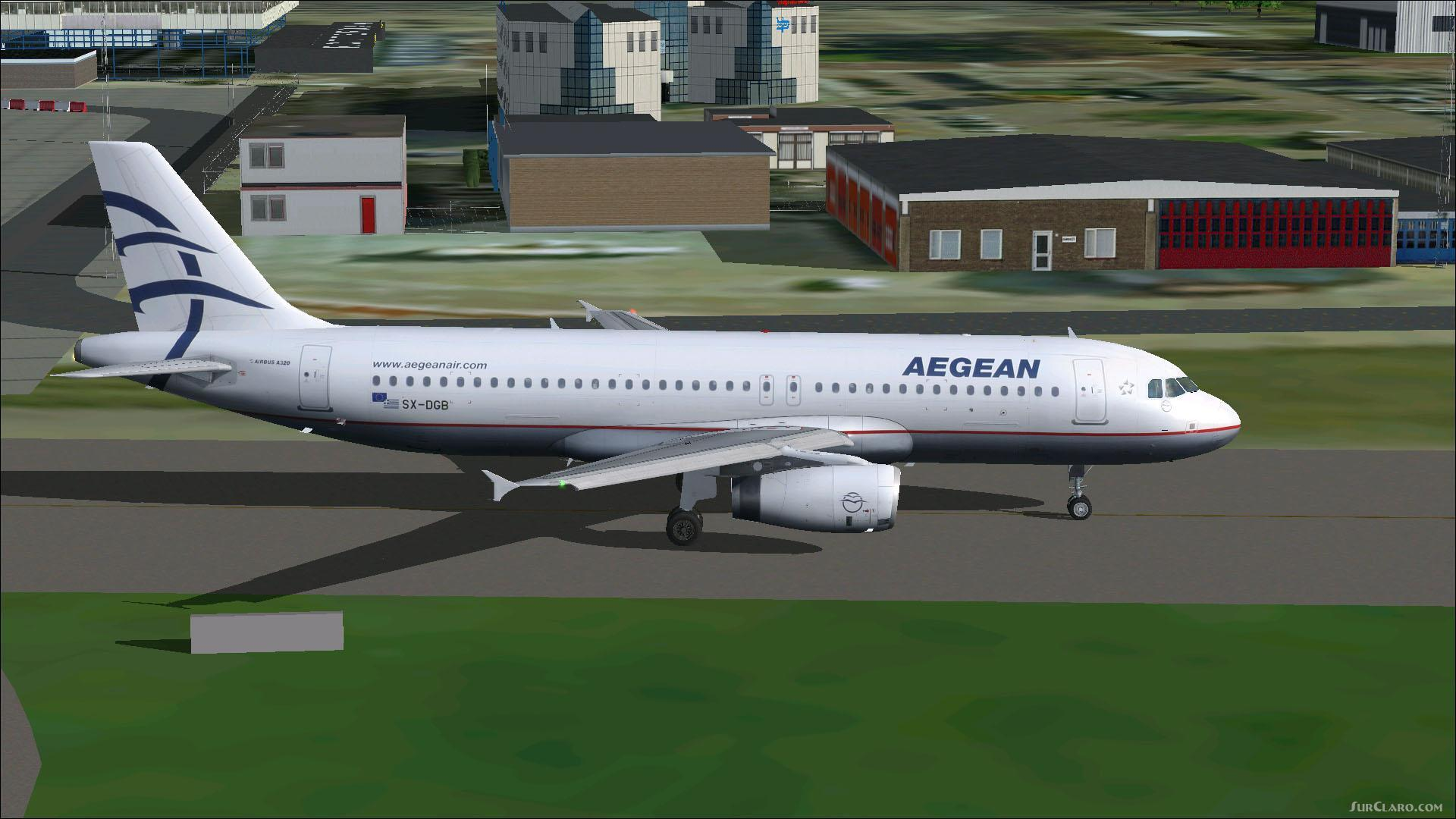 FSX FS2004 Project Airbus A320-232 Aegean Airlines Aircraft