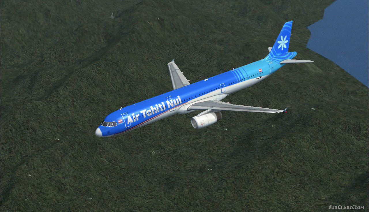 FSX Airbus A321 Air Tahiti Nui Repaint Texture Exclusively