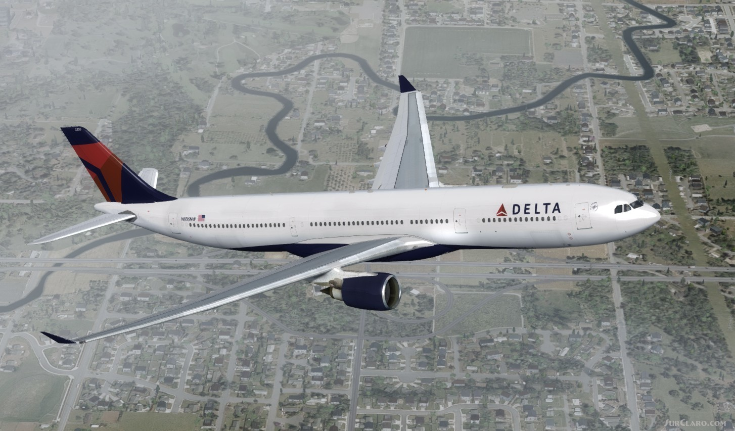 fsx p3d airbus a330 300 delta airlines package v2 aircraft rh surclaro com Airbus A330 -300 Seating Delta Delta Airbus A330 -300