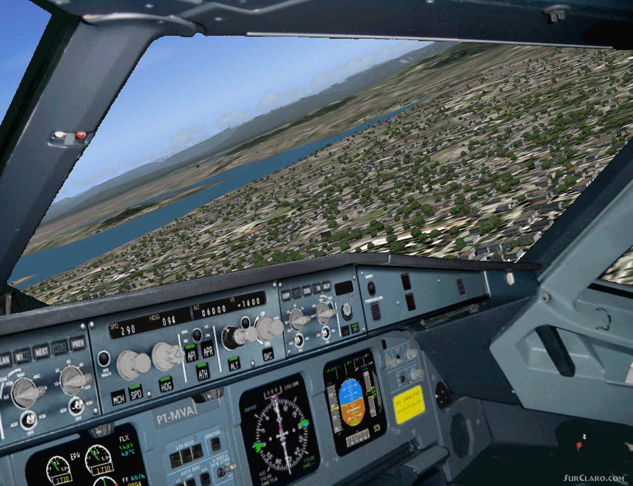 FS2004 Airbus A3340 Panel FS9