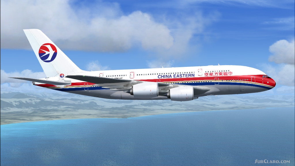 Fsx a380 800 china eastern airlines b 6119 aircraft 19023 - China eastern airlines sydney office ...