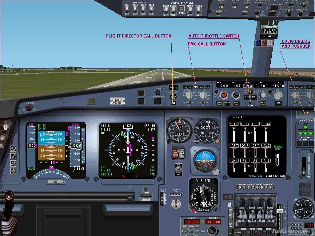 FS2002 AIRBUS A340 Professional Be Displayed 1024x768 Panel