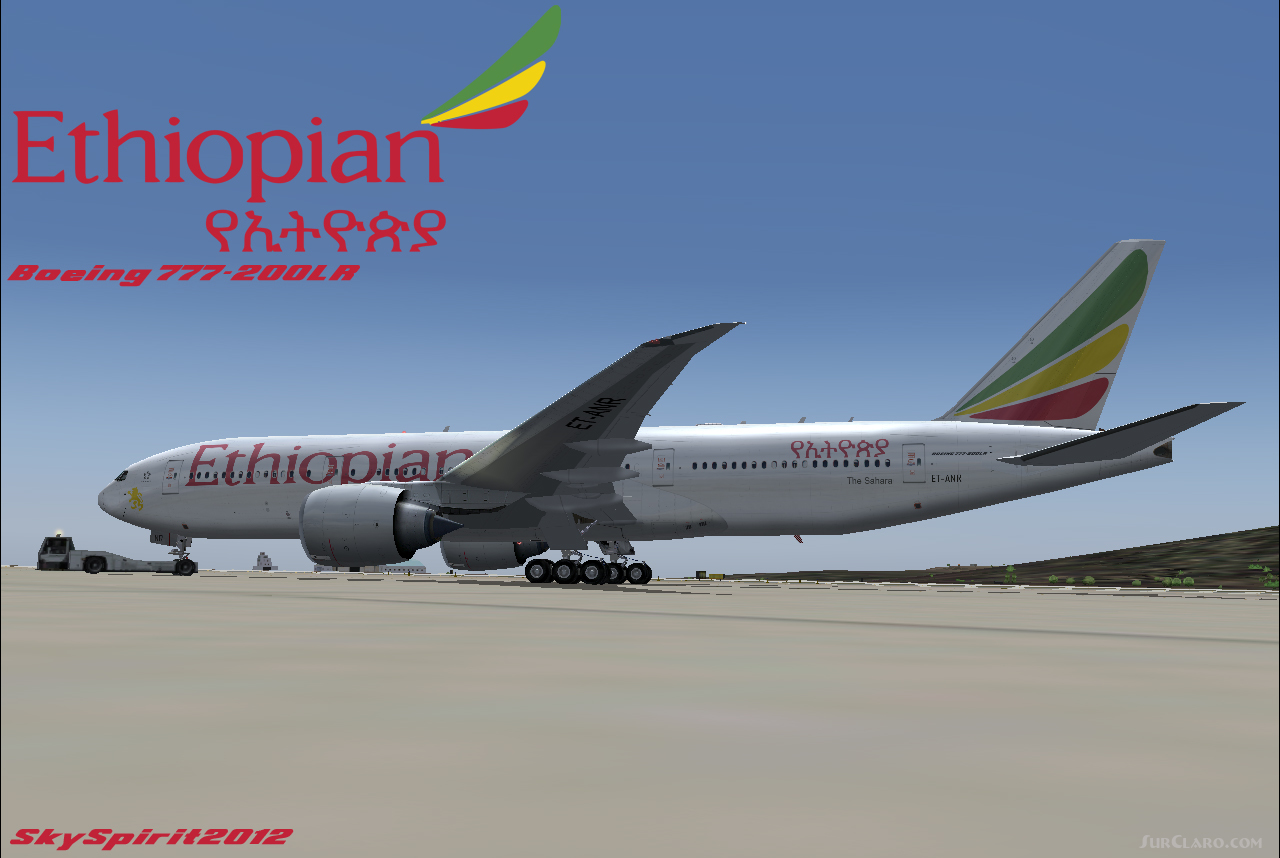 FS2004 Ethiopian Airlines BOEING 777-200LR V2 Airliners