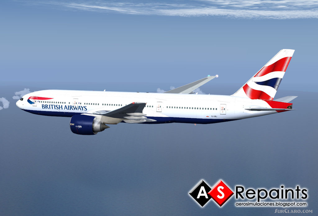 Fs2004 British Airways Boeing 777 200 V2 Fsx Airliners 21222