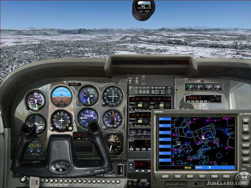 FS2004 A Panel Cessna 172 Skyhawk Picturereal Bitmap And