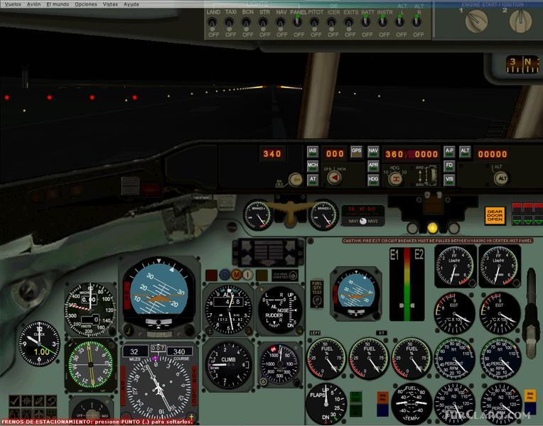 FSX DC9 2D Panel Designed Enrique Medal 1 Bitmaps David