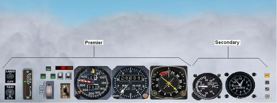 FS2004   A Minipanel With Real Flying I Good Nice Area Overlook