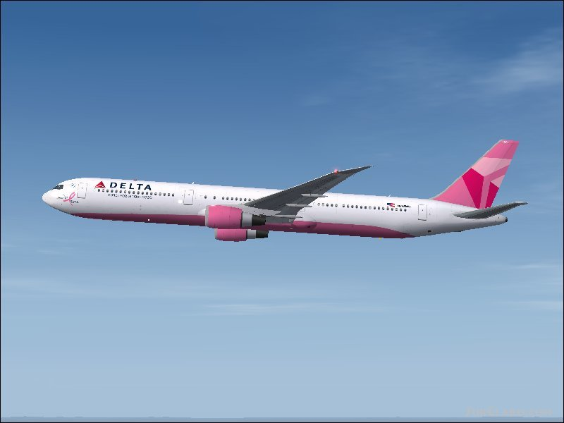 FS2004 Delta Air Lines Boeing 767-432ER Airliners