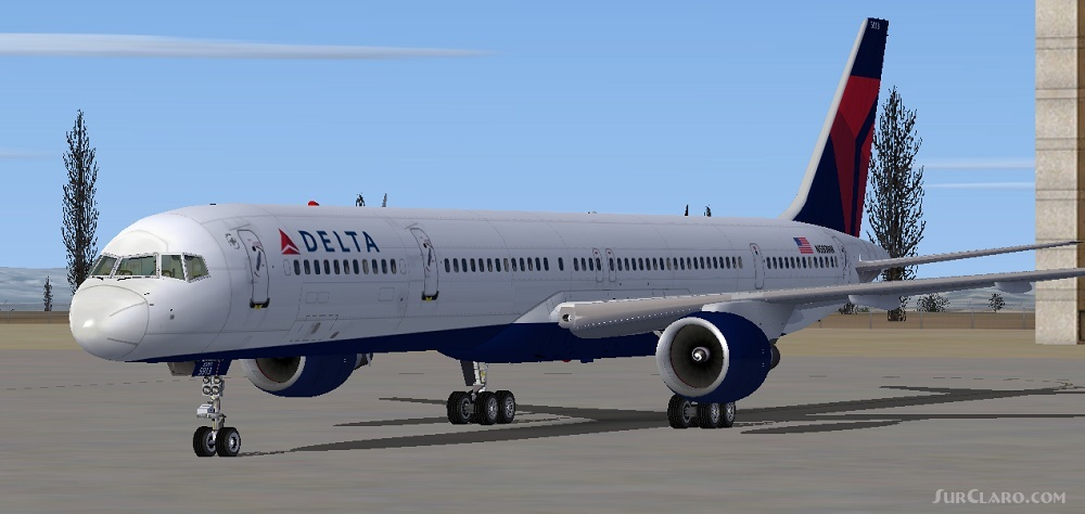 FSX Delta Boeing 757-351 Repaint Posky 757-300 Airlines Aircraft