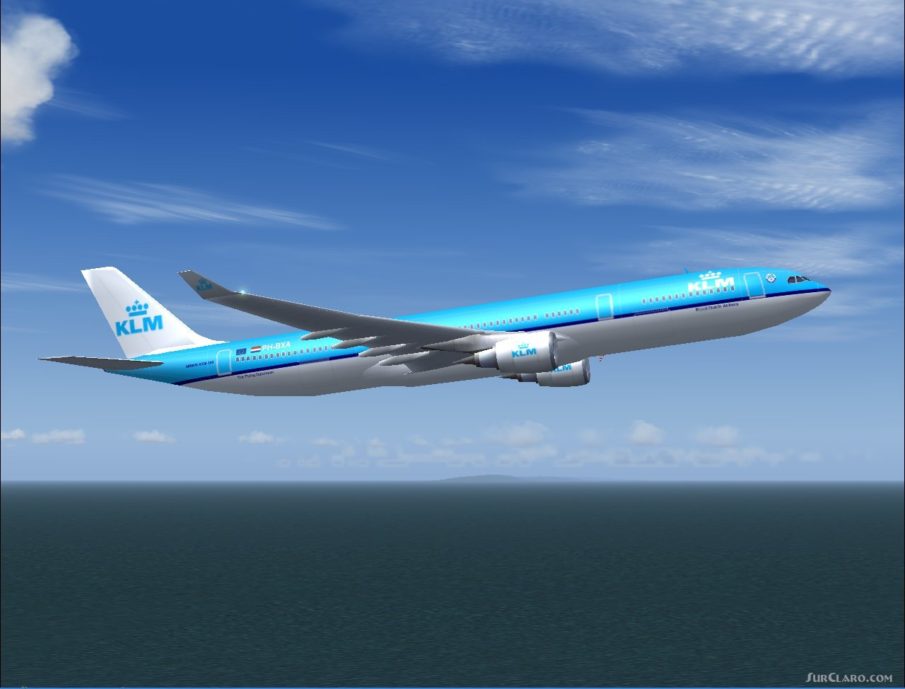 FS2002 Airbus A330-300ge Klms New Livery Fs Painters