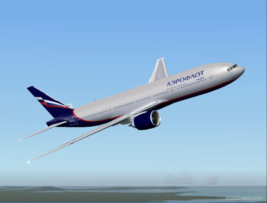 FS2004 Aeroflot New Colors Boeing 777-200ER AI Traffic Utilizing