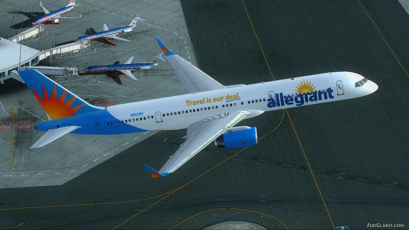 fs2004 project opensky boeing 757 200 allegiant airliners B757 Top View B757 Top View