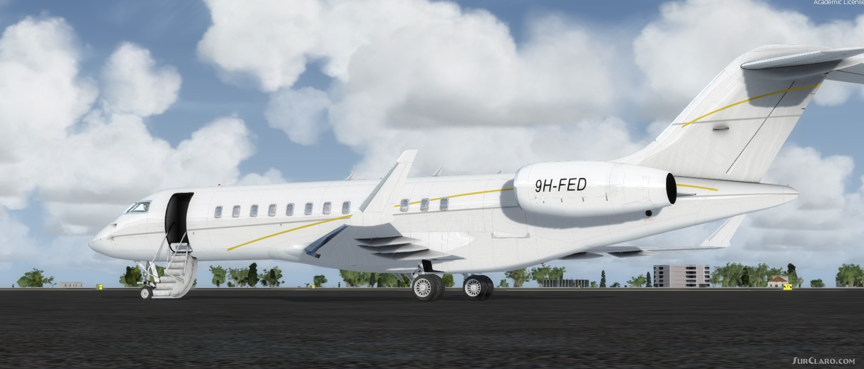 FSX P3D Bombardier Global Express XRS 9H-FED Aircraft