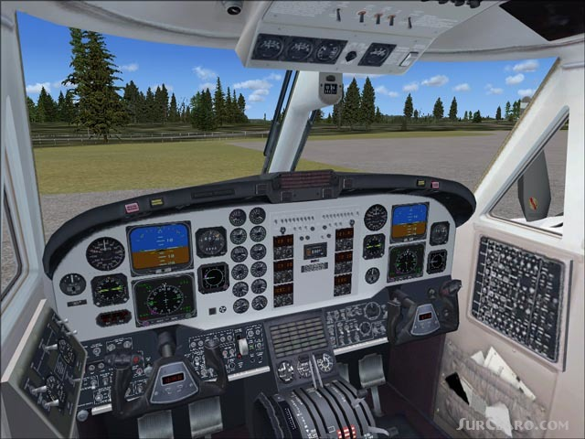 Fsx Isdt Beechcraft Super King Air B200 Virtual Cockpit Panel