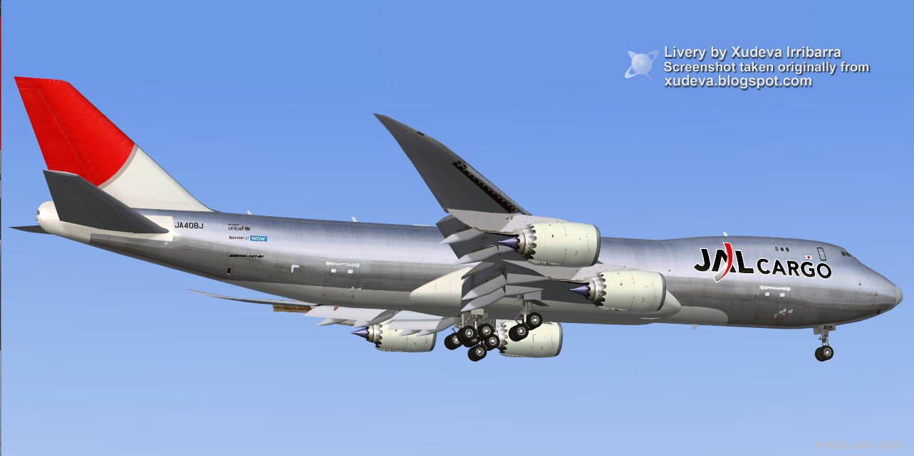 FS2004 PROJECT OPEN SKY BOEING 747-8F V4B Airliners