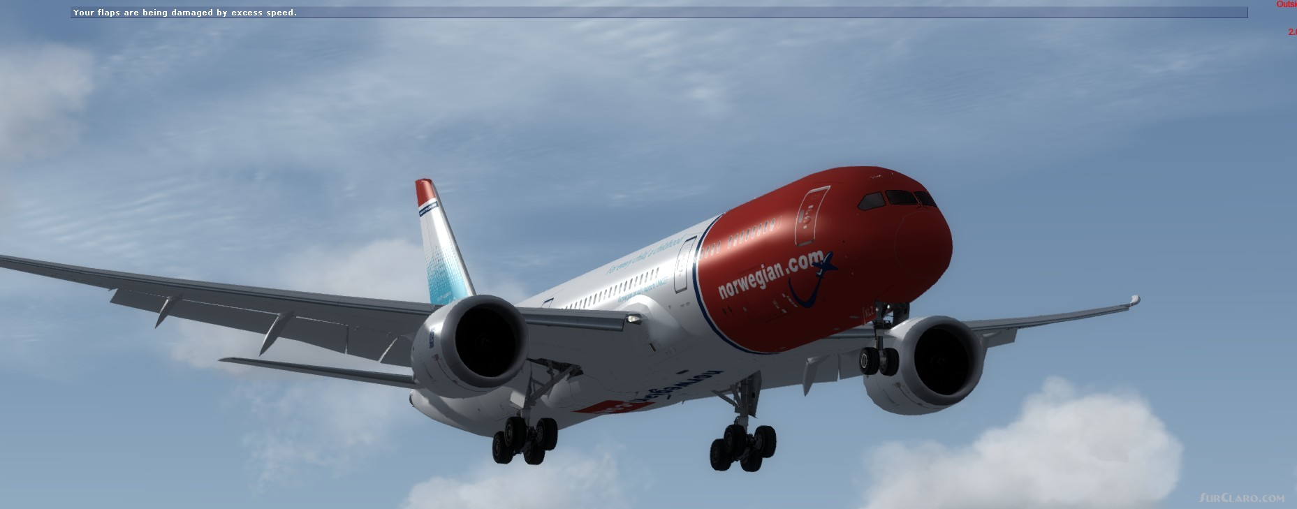 FSX P3D TDS Boeing 787-9 Dreamliner Norwegian Air UK Aircraft