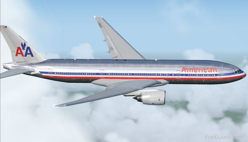 FSX Boeing 777-200ER American Airlines Altn Aircraft