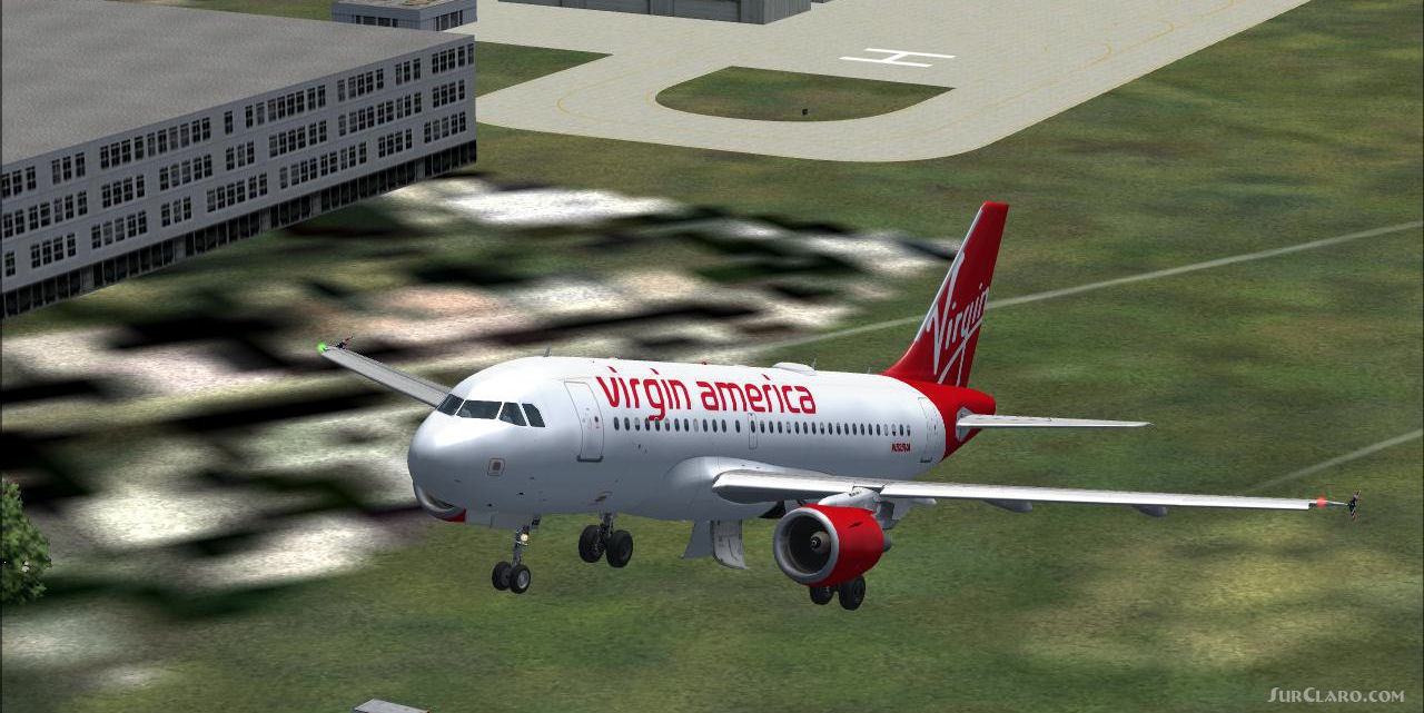 FS2004 Virgin America Repaint Project Airbus A319 Airliners