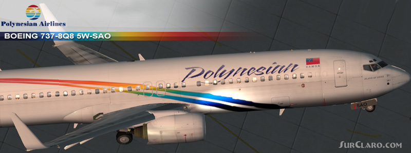 FS2004 Boeing 737-8Q8 Polynesian Airlines Paint PMDG Airliners