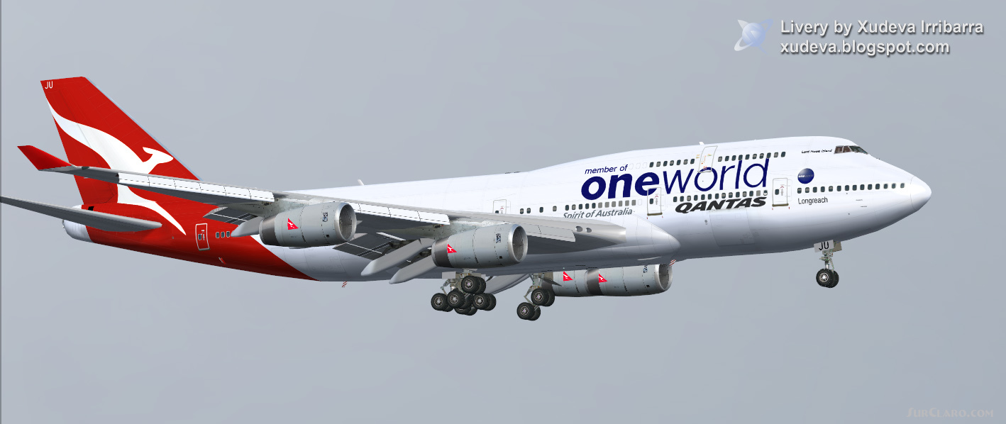 Fs2004 Qantas Boeing 747 400 Airliners