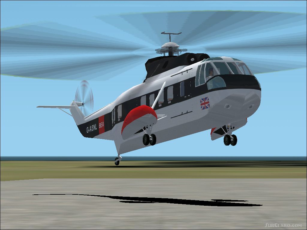 FS2002 Sikorsky S-61n Bea 26 Seater Civilian Helicopter