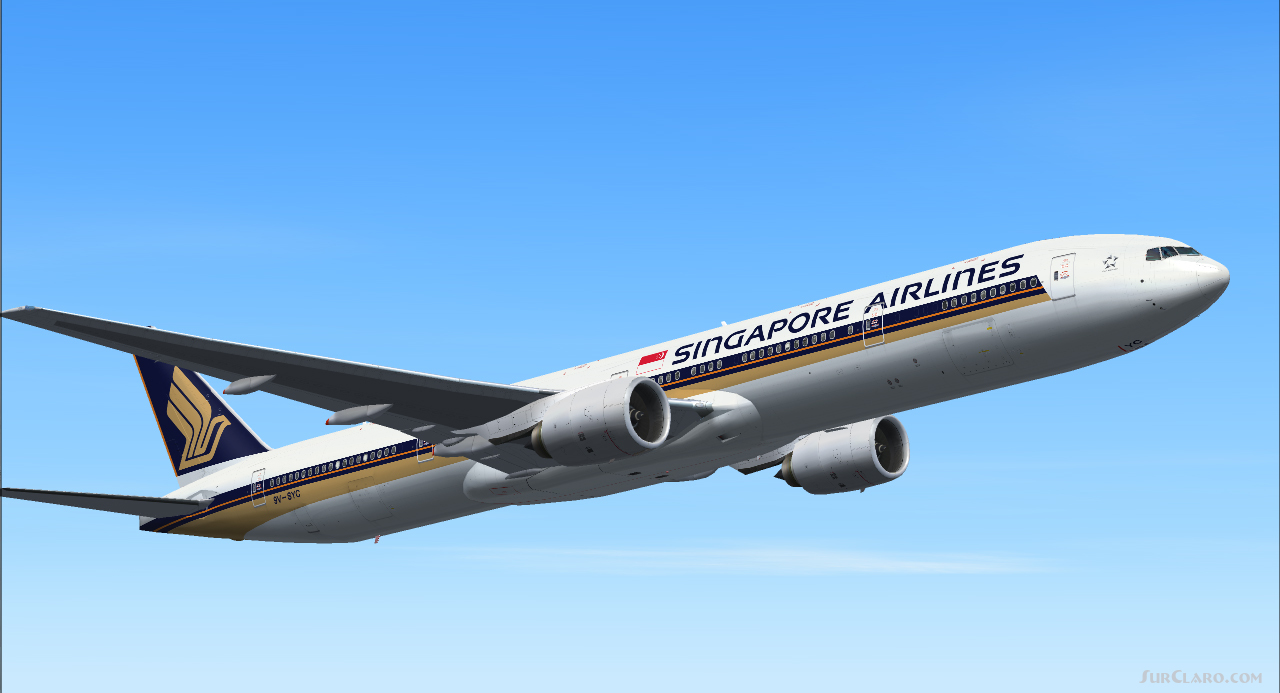FSX Singapore Airlines 777-312 Boeing 777-300 Aircraft