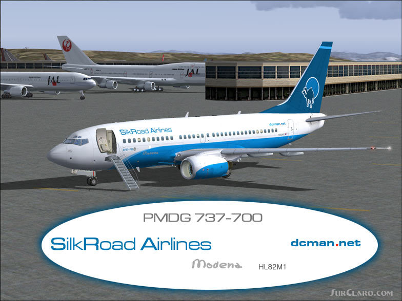 FS2004 Silkroad Airlines 737-700 Repaint Pmdg 737ng Airliners