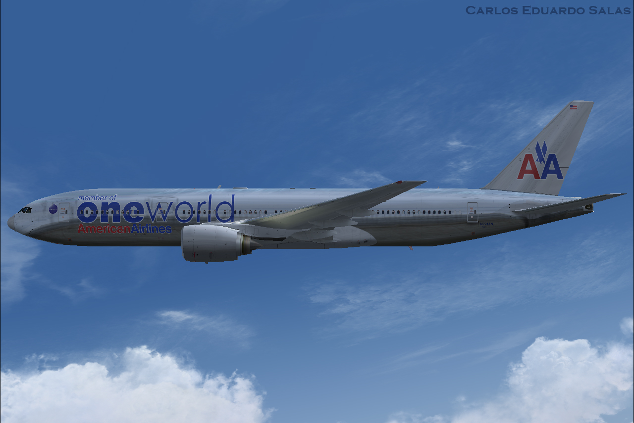 Fsx Fs2004 American Airlines Boeing 777 200 N761aj Aircraft - Imagez co