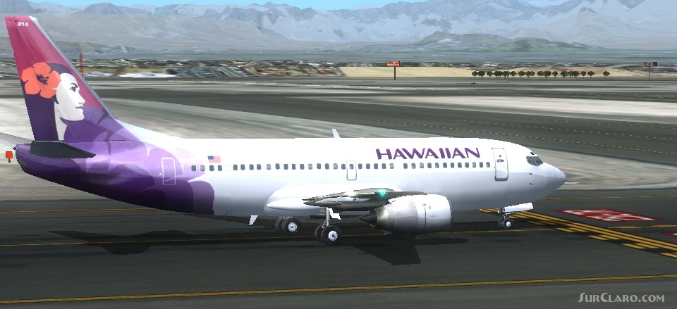 FSX Wilco Feelthere Payware Boeing 737-300 Hawaiian Aircraft