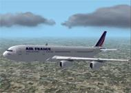 FS2002 AIRBUS 340-300 Air France Model and image 1