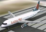 FS2002 Aircraft America West Airlines Airbus image 1