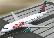 FS2002 Airbus A320-200 America West new model image 1