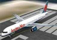 FS2002 Aircraft America West Boeing 757-200 with image 1