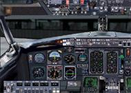 FS2002 - B737-200 panel with virtual-cockpit image 1