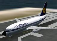 FS2002 B737-200 Lufthansa colors Features image 1