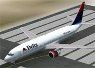 FS2002 Delta Airlines Boeing 737 Pack pack image 1