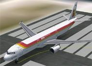 FS2002 Iberia A321 Moving parts include fan image 1