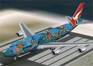 FS2002 Project Open Sky Boeing 747-300 Qantas image 1