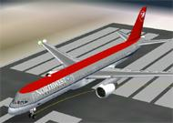 FS2002 Boeing 757-200 Northwest Airlines Full image 1
