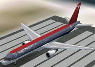 FS2002 Aircraft- Northwest Airlines Boeing image 1