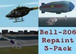 FS2002 Bell 206 helicopter Textures repaint image 1