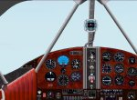 FS2002 Panel - Beechcraft D-17 Staggerwing image 1