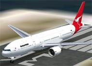 FS2002 Project Opensky Boeing 777-200 ER Qantas image 1