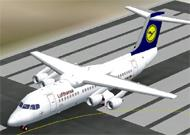 FS2002 Avro RJ85 an new model image 1