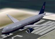 FS2002 United Airlines B777-300 Textures repaint image 1